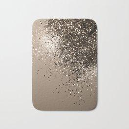 Sparkling Sepia Lady Glitter #1 #shiny #decor #art #society6 Bath Mat
