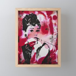 Audrey Hepburn Framed Mini Art Print