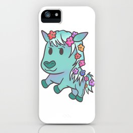 Horse mare stallion pony flower girl gifts iPhone Case