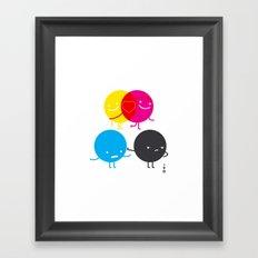 YM love CK hate Framed Art Print