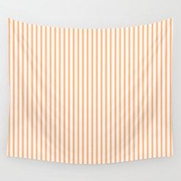 Bright Orange Russet Mattress Ticking Narrow Striped Pattern - Fall Fashion 2018 Wall Tapestry