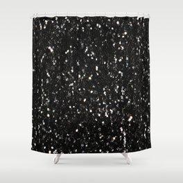 Black and white shiny glitter sparkles Shower Curtain