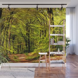 Forest Walk in Spring Wall Mural