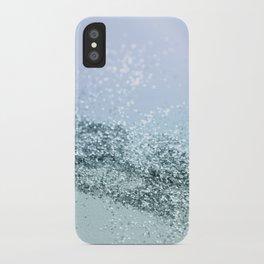 Light Seafoam Light Blue Glitter #1 #shiny #decor #art #society6 iPhone Case