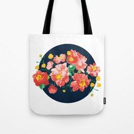 Peonies Illustration Tote Bag