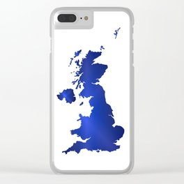 United Kingdom Map silhouette Clear iPhone Case