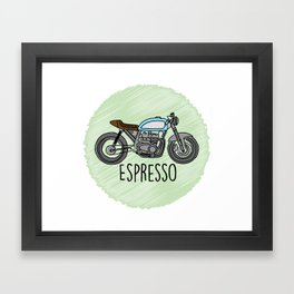 Espresso - Cafe Racer Framed Art Print