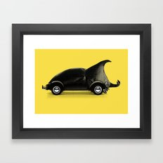 A regular beetle Framed Art Print