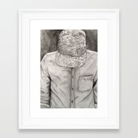 tyler the creator Framed Art Prints featuring Tyler, The Creator by Katie DeAngelis