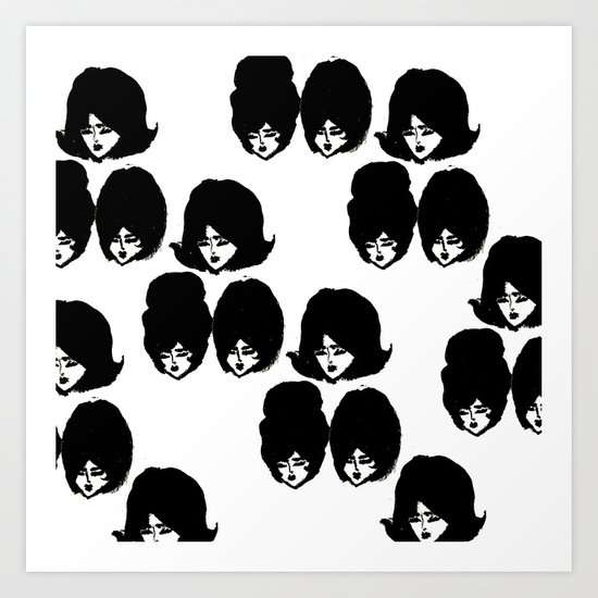 Bouffant Girls II Art Print