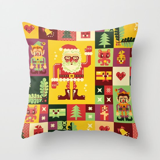 Christmas Geometric Pattern No. 1 Throw Pillow