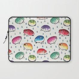 Round Rain Frogs Laptop Sleeve