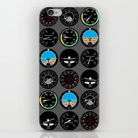 mortal instruments iPhone & iPod Skins featuring Flight Instruments by robyriker