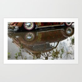 Old Beetle reflection Art Print