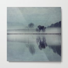 Misty Mirror - Landscape Reflections Metal Print
