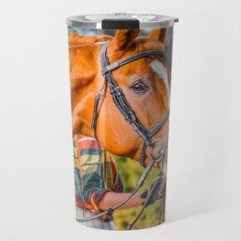 Horse head photo closeup Travel Mug