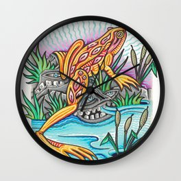 Freak Frog Wall Clock