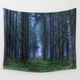 Green Magic Forest - Landscape Nature Photography Wall Tapestry
