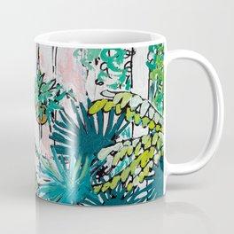 Kew Gardens Sunrise Walkway Greenhouse Jungle Painting London Coffee Mug