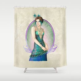 Peacock Gown Shower Curtain