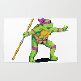 Pixelated Teenage Mutant Ninja Turtles (TMNT) - Donatello Rug