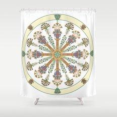 Egyptian Nouveau Mandala Shower Curtain