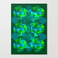 emerald Canvas Prints featuring Emerald by Ingrid Castile