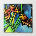 Beautiful Monarch Butterflies Fluttering Over Palm Fronds by annmariescreations by amsnead