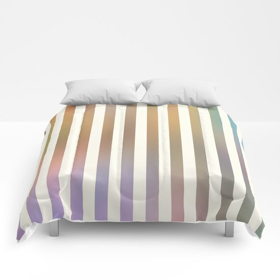 Striped Pattern in Pastel Colors Comforters