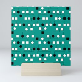Pedigree Analysis - Autosomal Recessive Mini Art Print