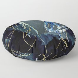 Metallic Ocean III Floor Pillow