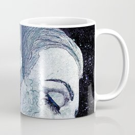 Obey Me: Blue (graffiti flower woman portrait) Coffee Mug