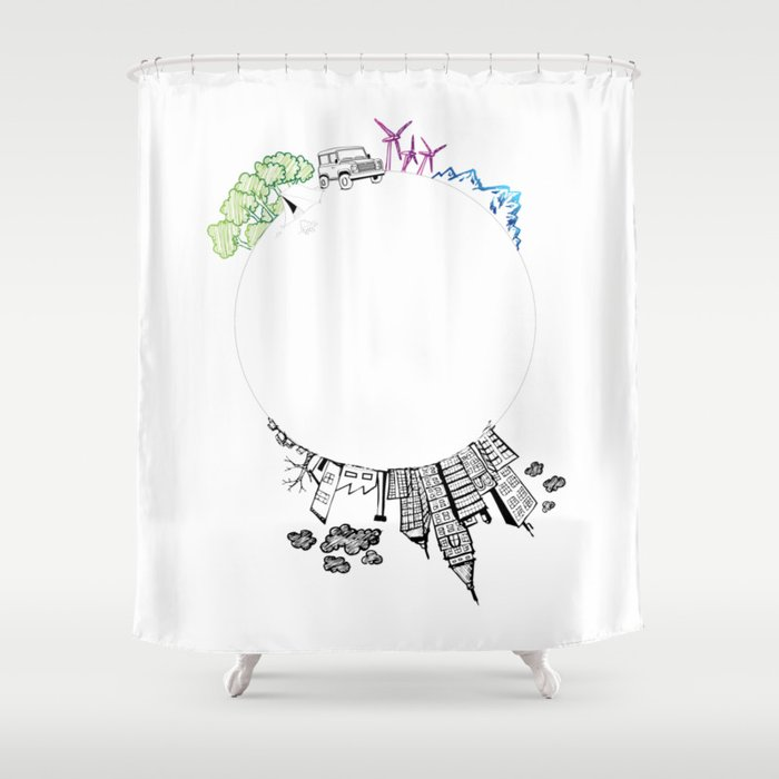 Save The Planet Shower Curtain By 4explorers