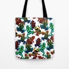 TOXIC FROGS PATTERN Tote Bag