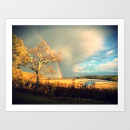 rainbow over the aquia river, virginia Art Print