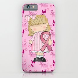 Think Pink Breast Cancer Awareness iPhone Case
