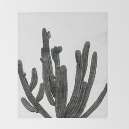 Black and White Cactus Throw Blanket