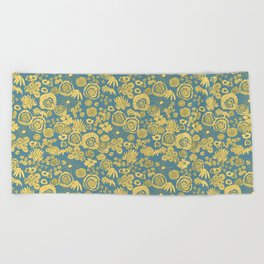 Scribble Ditsy Floral Beach Towel