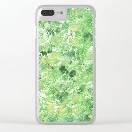 Spring Camo Green Print, Grass, Nature Clear iPhone Case
