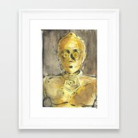 c3po Framed Art Prints featuring C3PO by Johannes Vick