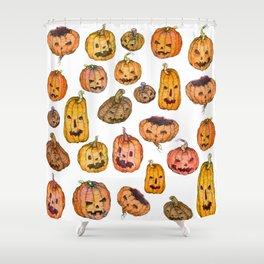 Halloween Pumpkin Party Shower Curtain