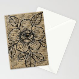 Flower with Eye: Beauty is in the Eye... Stationery Cards