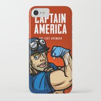steve rogers iPhone & iPod Cases featuring Steve Rogers, The Fist Avenger by Randy Meeks