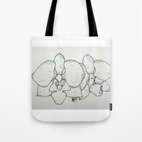 plain Tote Bags featuring Plain Orchid by Razias