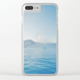 Steamy Blue Lagoon, Iceland Clear iPhone Case
