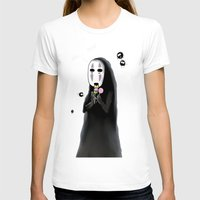 studio ghibli T-shirts featuring Studio Ghibli - Noface and Dango by Kayla Phan