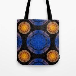 Mandala blue and orange Tote Bag