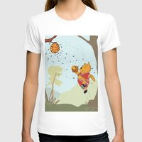 pooh T-shirts featuring Pooh Rose by Jen Hynds