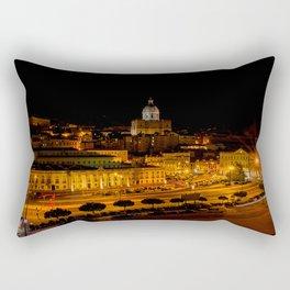 Lisbon by night Rectangular Pillow
