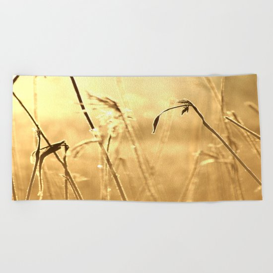 Foggy Morning With Golden Tones  Beach Towel